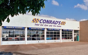Conrad's Tire Express & Total Car Care Elyria, OH located on Midway Mall Blvd