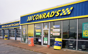 Conrad's Tire Express & Total Car Care North Randall, OH location on Warrensville Ctr Rd