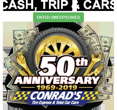 Conrads Total Car Care Tire Centers, Conrads 50th, Conrads Total Car Care Tire Centers